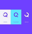 set letter q minimal logo icon design template vector image vector image