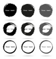 set of 9 hand drawn scribble circles elements vector image vector image