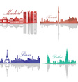 Set of Skylines vector image vector image
