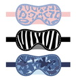 Sleeping mask set vector image