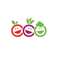 Smile fruits icon vector image vector image