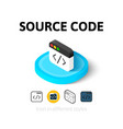 Source code icon in different style vector image vector image