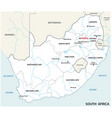 south africa administrative and political map vector image vector image