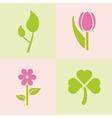 spring plants vector image vector image