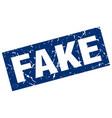 square grunge blue fake stamp vector image vector image