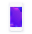 white smartphone abstract purple background vector image vector image