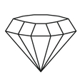 Isolated and silhouette diamond design vector image