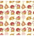 Seamless pattern made of sweets vector image