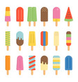 colorful ice cream of popsicle stick icon vector image