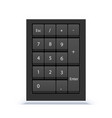 numeric keypad close up view numpad with numbers vector image
