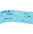 bank check vector image