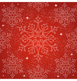 Merry Christmas snowflakes seamless pattern vector image