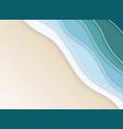 abstract nature coast sea wavy layers of blue vector image vector image