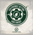 alternative eco setting stamp vector image