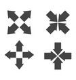 arrow symbol icons flat vector image