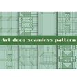 Art deco seamless patterns vector image vector image