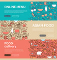 asian food templates vector image
