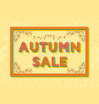 autumn sale background template with retro vector image vector image