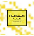 beautiful meadowlark square background vector image vector image