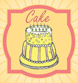 Big layer cake colored hand drawn sketch vintage vector image