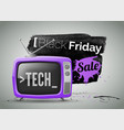 black friday electronics store sale vector image vector image