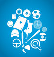 blue sports icons vector image