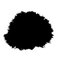 brush stroke isolated white background black vector image vector image