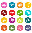 building materials icons set colorful circles vector image vector image