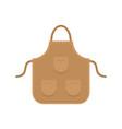 carpenter apron icon flat style vector image