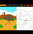 cartoon coloring book australian animals series vector image vector image