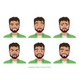 character men hipster a collection of several vector image vector image