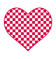 Checked heart vector image vector image