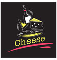 cheese set of cheese wine background image vector image