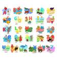 children s alphabet with animals vector image