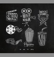 cinema signs chalk vector image vector image