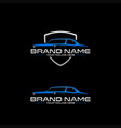 classic car logo vector image vector image