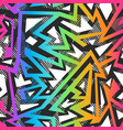 colored graffiti seamless pattern vector image vector image