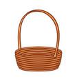 colorful cartoon empty wicker basket vector image vector image