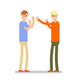 conflicting two men are engaged in a business vector image