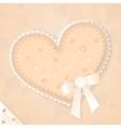 Cute beige vintage postcard vector image vector image