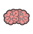 cute brain cartoon vector image vector image