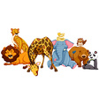 Different kind of wild animlas vector image vector image