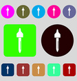 dropper sign icon pipette symbol 12 colored vector image vector image