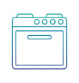 electric oven isolated icon vector image