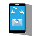 email message on mobile phone screen vector image vector image