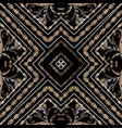 embroidery striped baroque seamless pattern vector image vector image