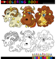 Fantasy animals characters for coloring vector image vector image