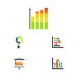 flat icon diagram set of diagram statistic pie vector image vector image