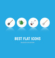 flat icon farm set of shovel hay fork bailer and vector image vector image