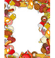 food gourmet frame background of feed edible vector image
